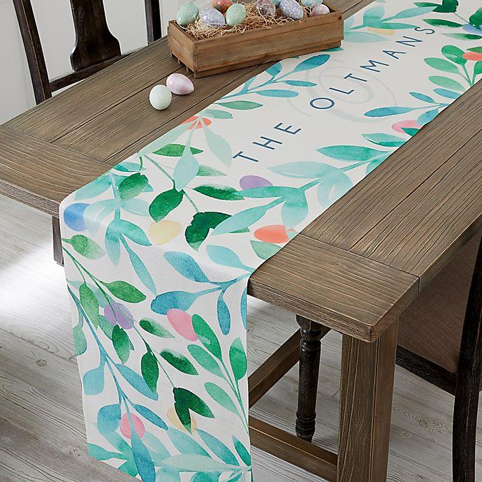 Alternate image 1 for Easter Egg Personalized Table Runner