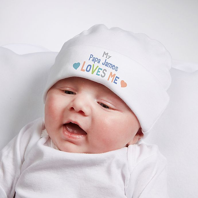 Alternate image 1 for You Are Loved Personalized Infant Cotton Hat