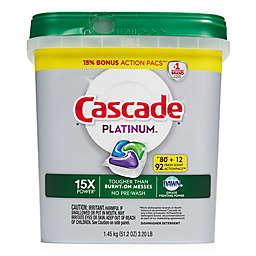 Cascade® Platinum™ 62-Count ActionPacs™ Dishwasher Detergent in Fresh Scent