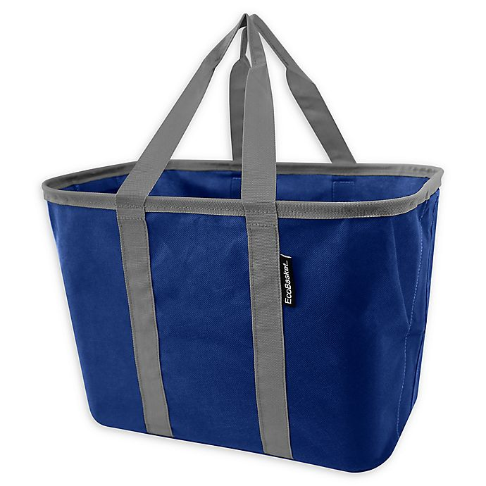 Alternate image 1 for CleverMade Ecobasket 15.5 Tote Bag in Blue/Grey
