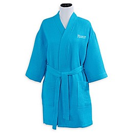 Embroidered Aqua Kimono Robe