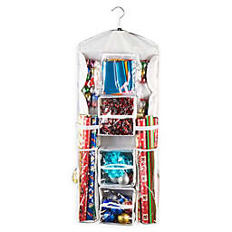 """Elf Stor 37.4"""" Double Sided Hanging Gift Wrap and Bag Organizer"""