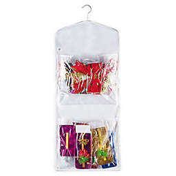 """Elf Stor 37.4"""" Hanging Gift Wrap and Bag Organizer Combo"""