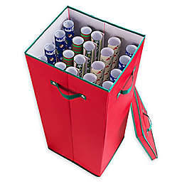 """Elf Stor 30"""" Wrapping Paper Storage Box in Red"""