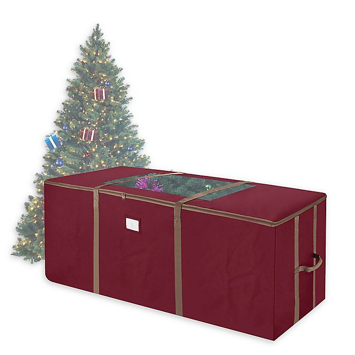 Alternate image 1 for Elf Stor 9' Rolling Christmas Tree Bag in Red
