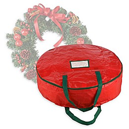 Elf Stor 24-Inch Artificial Christmas Wreath Storage Bag