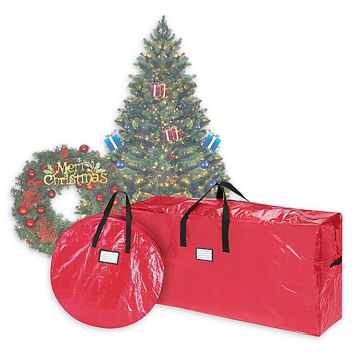 Alternate image 1 for Elf Stor 2-Piece Deluxe Artificial Christmas Tree and Wreath Storage Bags
