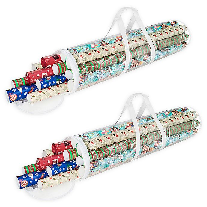 Alternate image 1 for Elf Stor Clear Wrapping Paper Storage Box (Pack of 2)