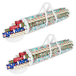 Elf Stor Clear Wrapping Paper Storage Box (Pack of 2)