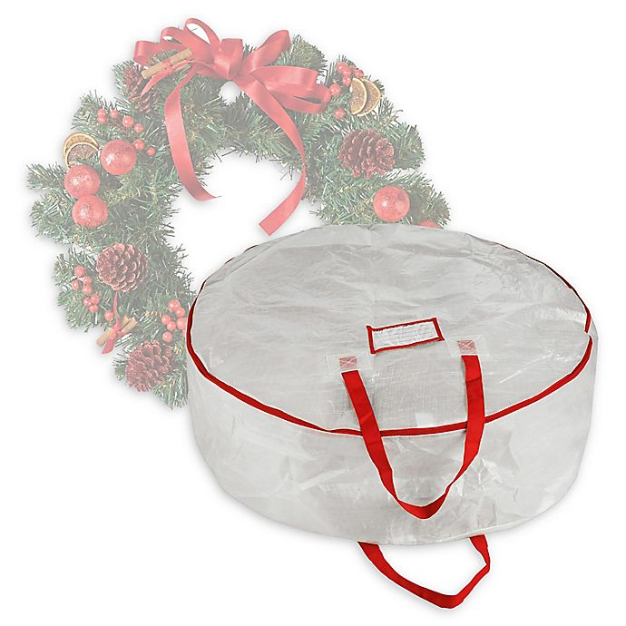 Alternate image 1 for Elf Stor 30-Inch Christmas Wreath Storage Bag