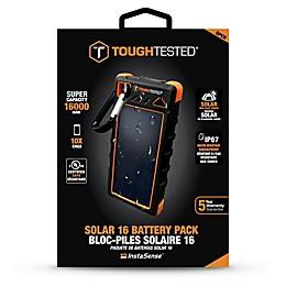 ToughTested™ Power Bank 16000mAh Solar Power Bank in Black/Orange