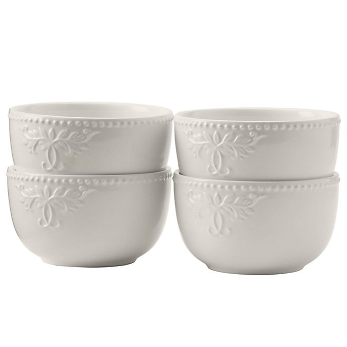 Alternate image 1 for Modern Farmhouse Home Cereal Bowls in White (Set of 4)