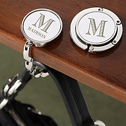 Striped Monogram Engraved Purse Hanger