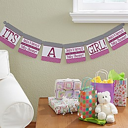 Chevron Baby Shower Personalized Paper Banner