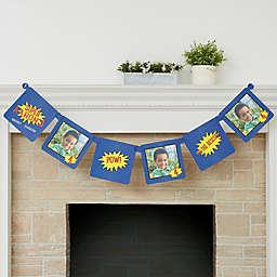 Super Hero Birthday Personalized Photo Paper Banner