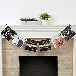 Cheers To Then & Now Anniversary Personalized Paper Photo Banner