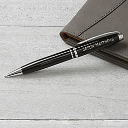 Personalized Black & Silver Pen