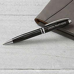 Personalized Black & Silver Pen