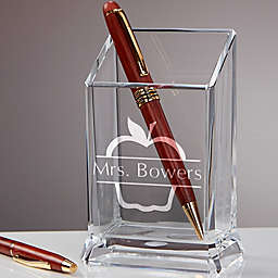 Favorite Teacher Acrylic Personalized Pen & Pencil Holder