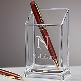 Initially Yours Personalized Acrylic Pen & Pencil Holder