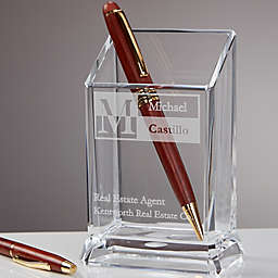 Sophisticated Style Personalized Acrylic Pen & Pencil Holder