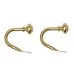 Umbra® Stella Harper Holdbacks in Brushed Brass (Set of 2)