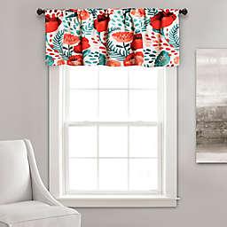 Poppy Garden Valance in Red/White