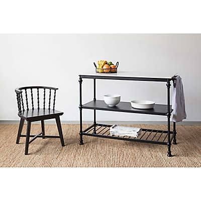 Bee & Willow™ Home Stone Top Kitchen Cart in Black