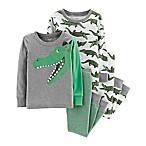 carter's® Size 6M 4-Piece Alligator Snug-Fit Cotton Pajama Set in Green