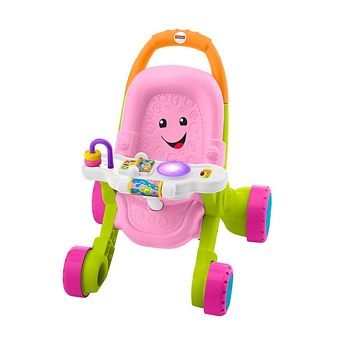 Alternate image 1 for Fisher-Price® Stroll & Learn Walker in Pink