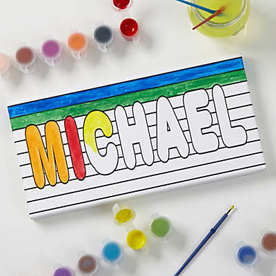 Paint It! Name Coloring Personalized Canvas Print