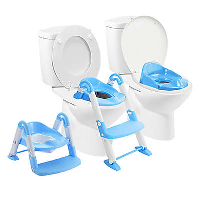 Squat-N-Go® Babyloo Bambino Booster 3-in-1 Potty Trainer in Blue
