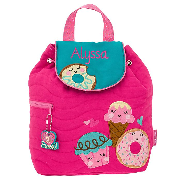 Alternate image 1 for Stephen Joseph® Donut Quilted Name Backpack