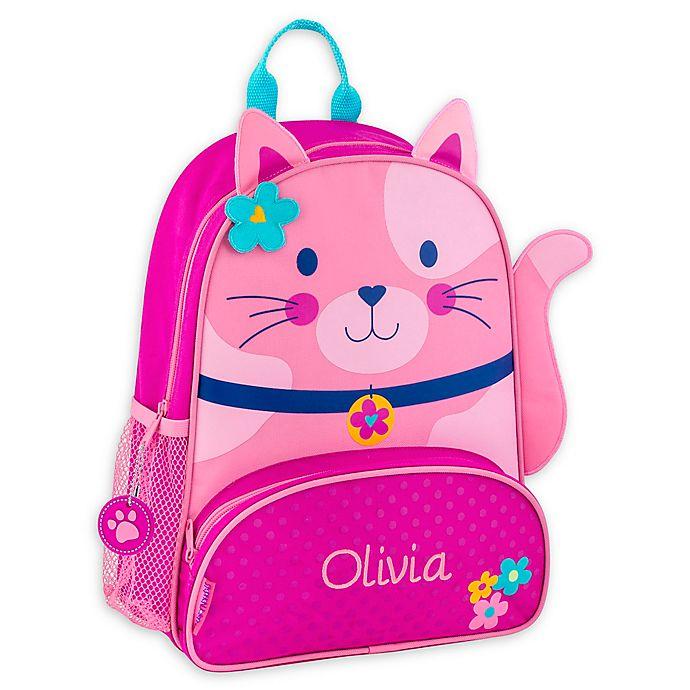 Alternate image 1 for Stephen Joseph® Cat Name Sidekick Backpack in Pink