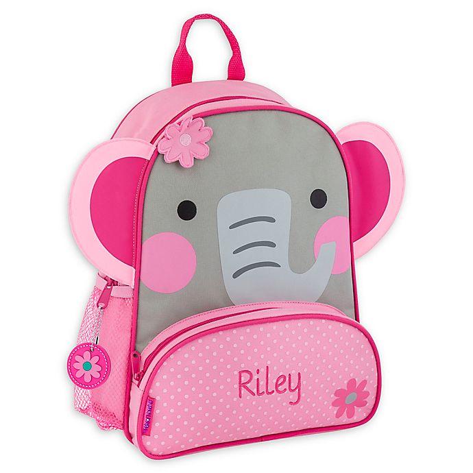 Alternate image 1 for Stephen Joseph® Elephant Name Sidekick Backpack in Pink