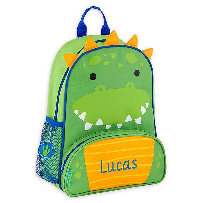 Alternate image 1 for Stephen Joseph® Dino Name Sidekick Backpack in Green