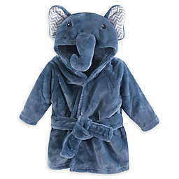 Little Treasures Chevron Elephant Plush Bathrobe in Blue