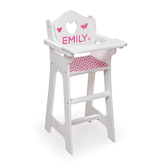 Alternate image 1 for Badger Basket Doll High Chair with Red Gingham Seat and Feeding Accessories