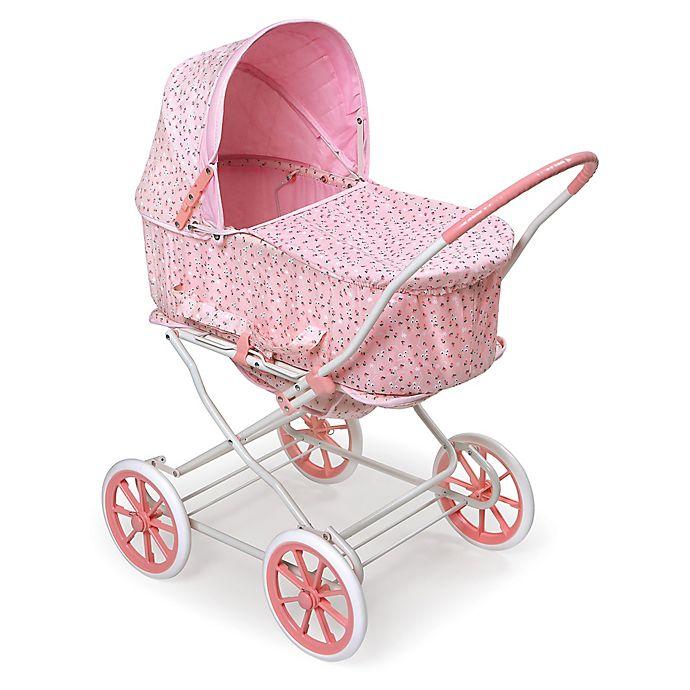 Alternate image 1 for Badger Basket Just Like Mommy 3-in-1 Rosebud Doll Pram in Pink/White