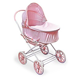 Badger Basket Just Like Mommy 3-in-1 Doll Pram in Pink/White