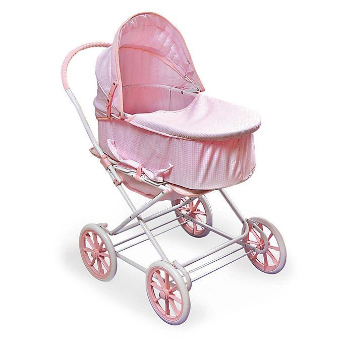 Alternate image 1 for Badger Basket Just Like Mommy 3-in-1 Doll Pram in Pink/White