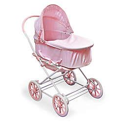 Badger Basket Just Like Mommy 3-in-1 Doll Pram in Pink/White