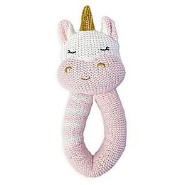 Living Textiles Kenzie Unicorn Knit Rattle