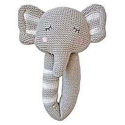 Living Textiles Theo Elephant Knit Rattle