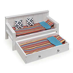 Badger Basket Sofa/Daybed Trundle in White/Multi