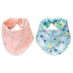 Trend Lab® Southwest Llama 2-Pack Reversible Flannel Bandana Bib Set