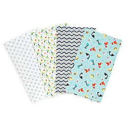 Trend Lab Deluxe 4-Piece Dinosaur Flannel Burp Cloths