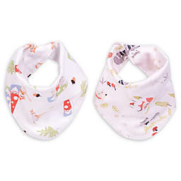 Trend Lab® 2-Pack Woodsy Gnomes Reversible Bandana Bib Set