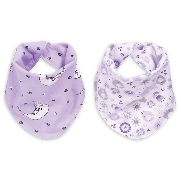 Alternate image 1 for Trend Lab® Llamas and Unicorns 2-Pack Reversible Flannel Bandana Bib Set