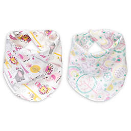Trend Lab® 2-Pack Pink Safari Reversible Bandana Bib Set